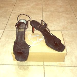 Christian Louboutin Moltofine Black Size 8 Heels